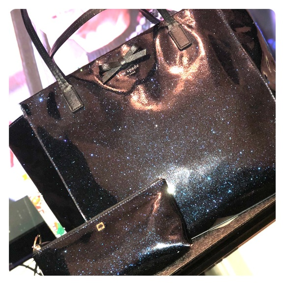 kate spade Handbags - Kate space sparkle galaxy blue with MatchingWallet